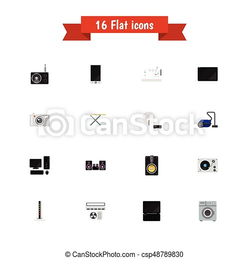 Set Of 16 Editable Technology Icons Includes Symbols Such