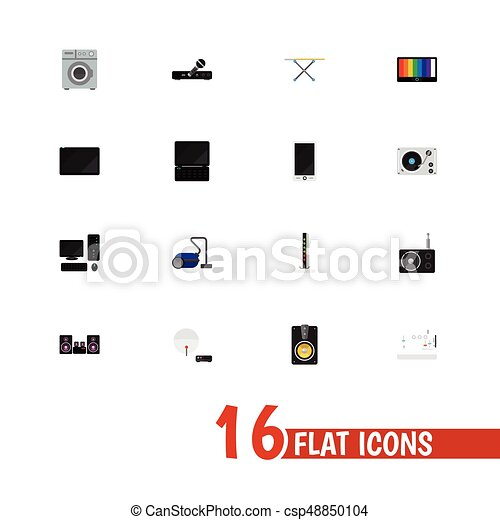 Set Of 16 Editable Technology Icons Includes Symbols Such As