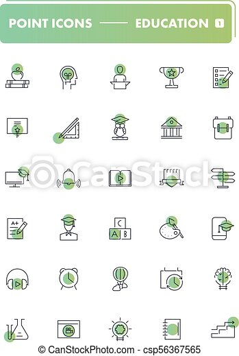 Set of 30 line icons. Education - csp56367565