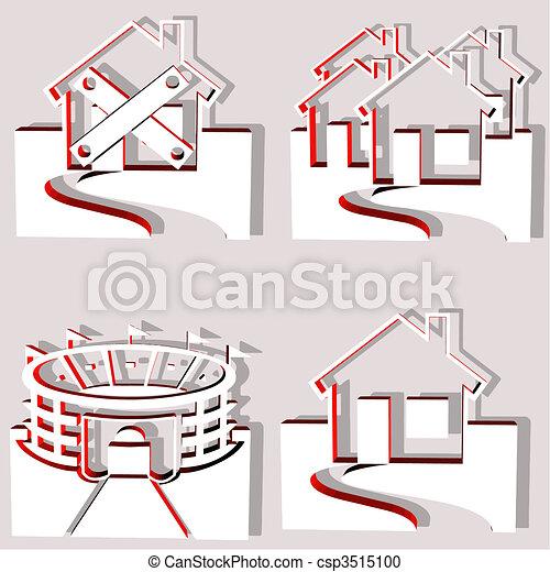 set of 4 building vectors - csp3515100