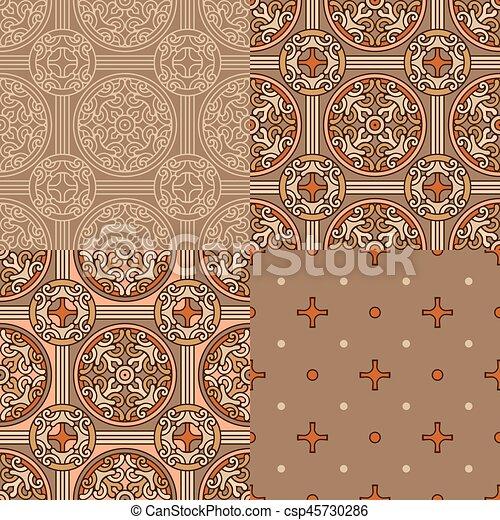 Set of 4 decorative backgrounds - csp45730286