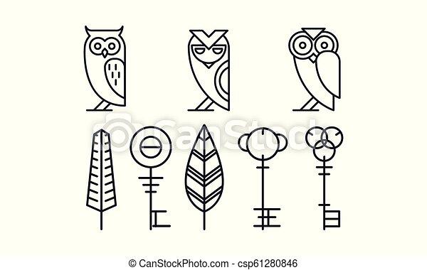 Set of 8 with Free Owl Art Prints