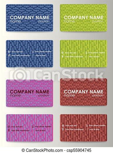 Set of 8 metallic themed business card templates - csp55904745