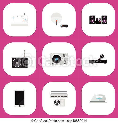 Set Of 9 Editable Technology Icons Includes Symbols Such As