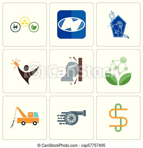 Set Of 9 simple editable icons such as double s, turbo, tow truck
