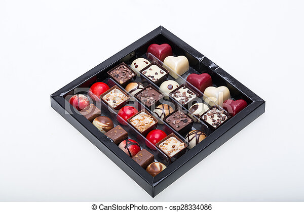 Set of a various chocolate pralines - csp28334086