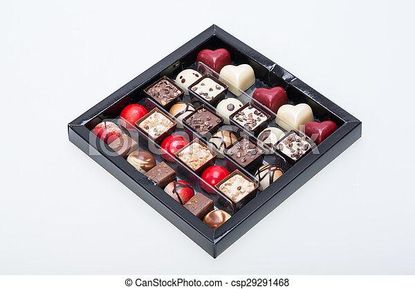 Set of a various chocolate pralines - csp29291468