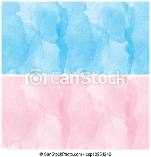 set of abstract blue and pink - csp10954242