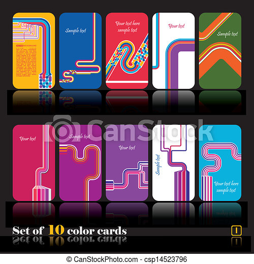 set of abstract color cards vector set eps vectors search clip