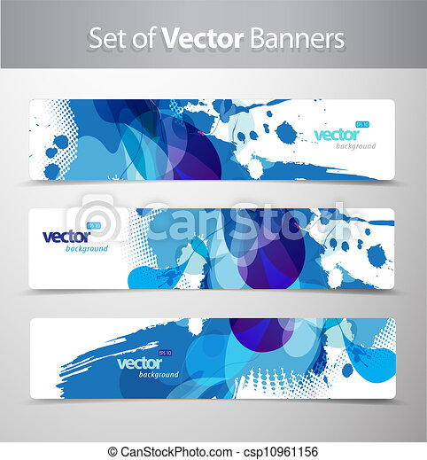 Set of abstract colorful web headers.  - csp10961156