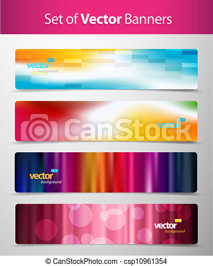 Set of abstract colorful web headers.  - csp10961354