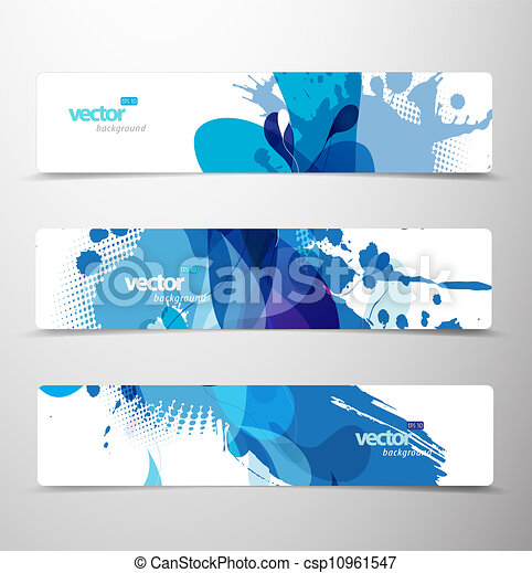 Set of abstract colorful web headers.  - csp10961547