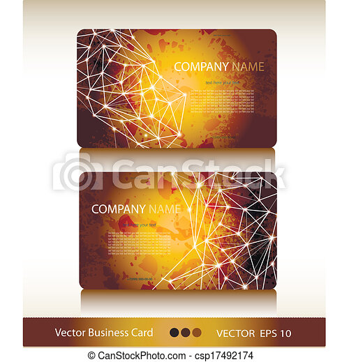 Set of abstract geometric business card vectors illustration set of abstract geometric business card vector reheart Gallery