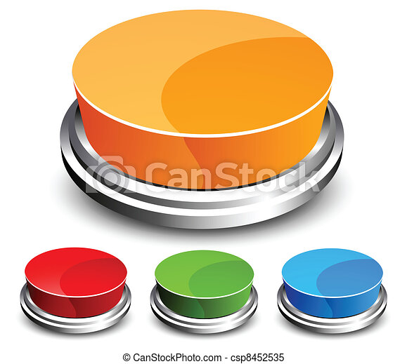 Set of abstract glossy button - csp8452535
