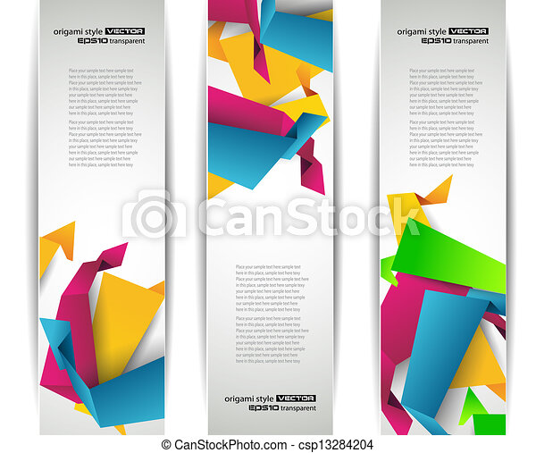 Set of abstract modern header banner  - csp13284204