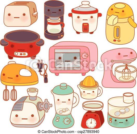 Set Of Adorable Kitchen Appliances Cute Kettle Lovely