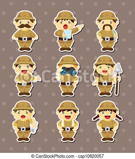 set of Adventurer people stickers - csp10820057