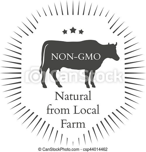 Set of agriculture vector label design elements - csp44014462