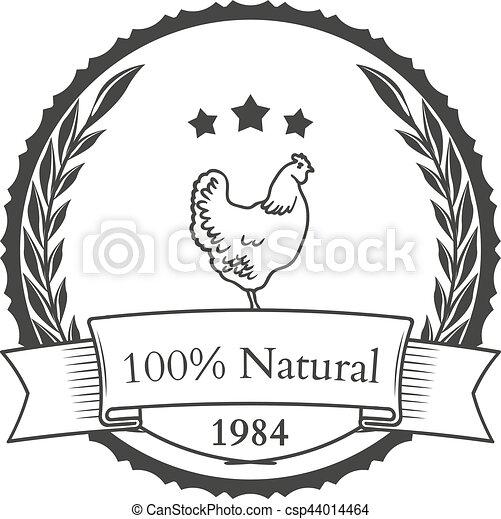 Set of agriculture vector label design elements - csp44014464