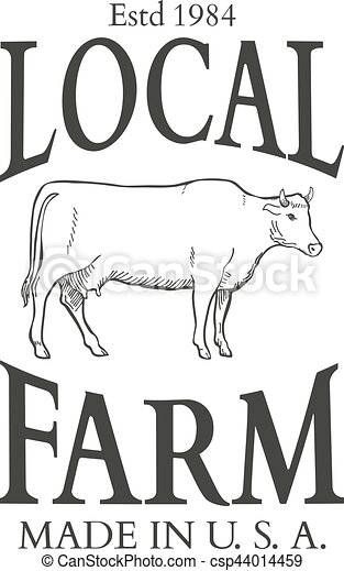 Set of agriculture vector label design elements - csp44014459