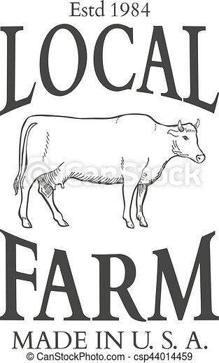 Set of agriculture vector label design elements - csp44014459