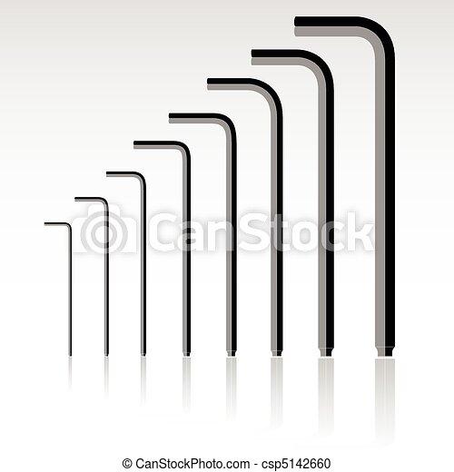 set of allen keys vector illustrati - csp5142660