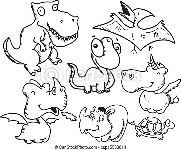 set of animal cartoon - csp15583814