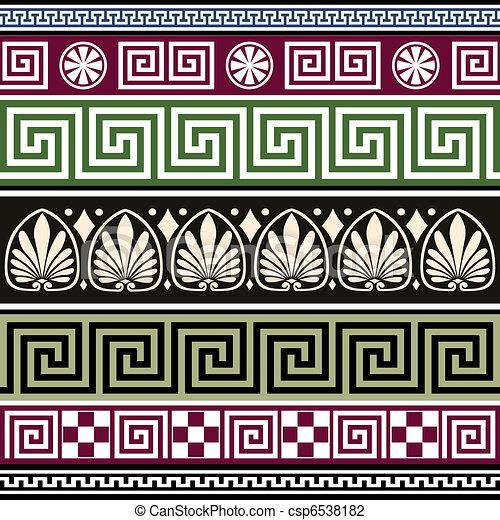 Set of antique greek ornaments - csp6538182