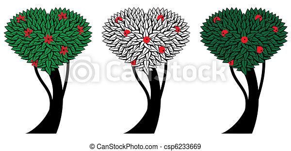 set of apple trees - csp6233669