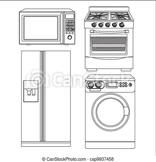 Set of appliances - csp9937458