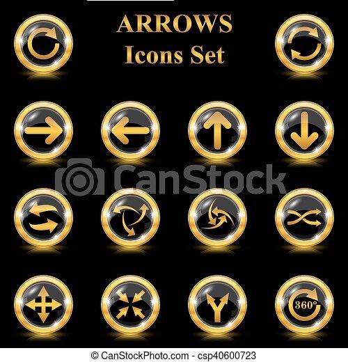 Set of arrows vector icons - csp40600723