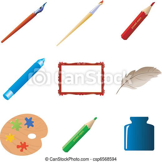 Set of art objects - csp6568594