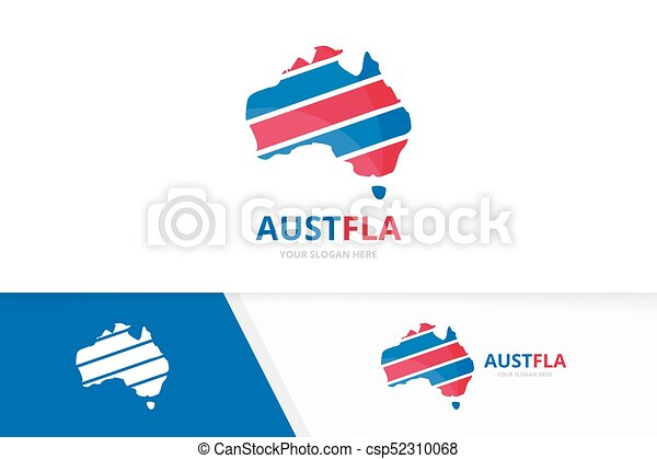 Set of australia logo combination  Oceania and country symbol or icon   Unique continent logotype design template