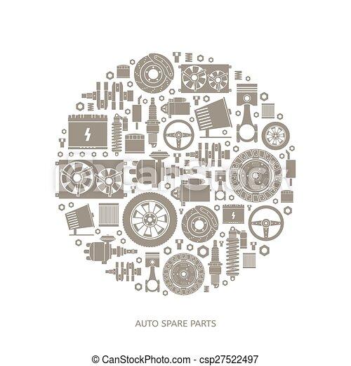 Set of auto spare parts - csp27522497