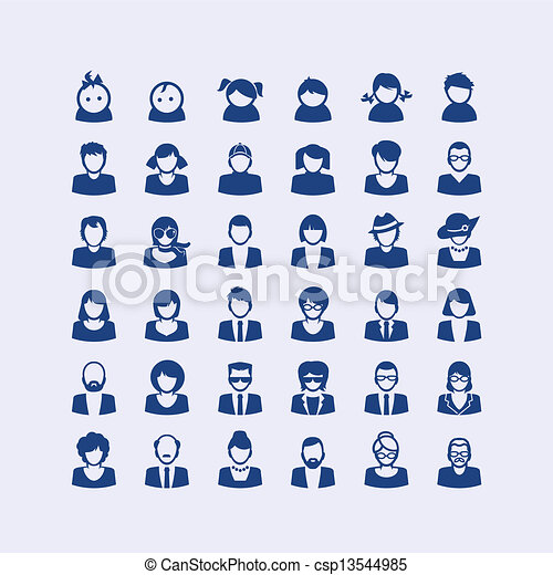 Set of avatar icons  - csp13544985