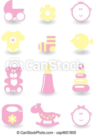 Set of baby icons - csp4601805