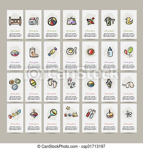 Set of baby icons for your design - csp31713197