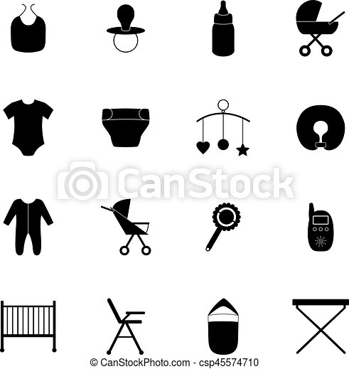 Set of baby icons, vector illustration - csp45574710