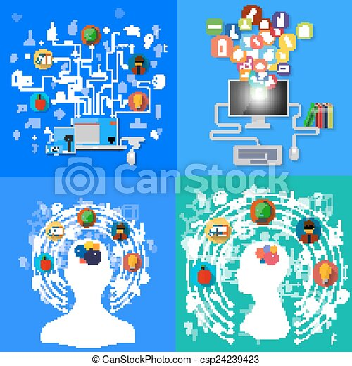 set of background education - csp24239423