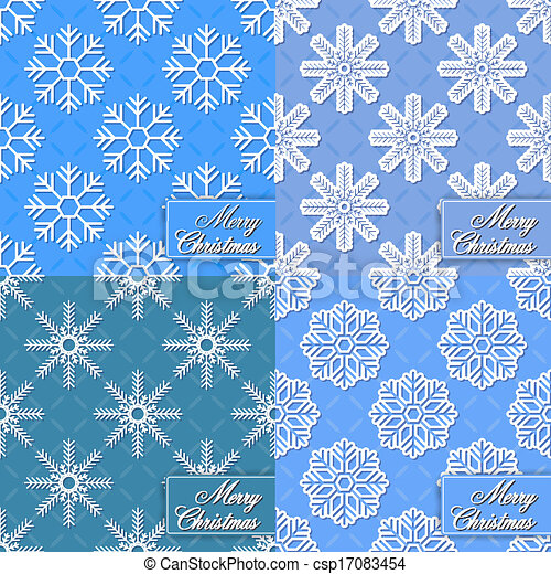 Set of background from snowflakes f - csp17083454