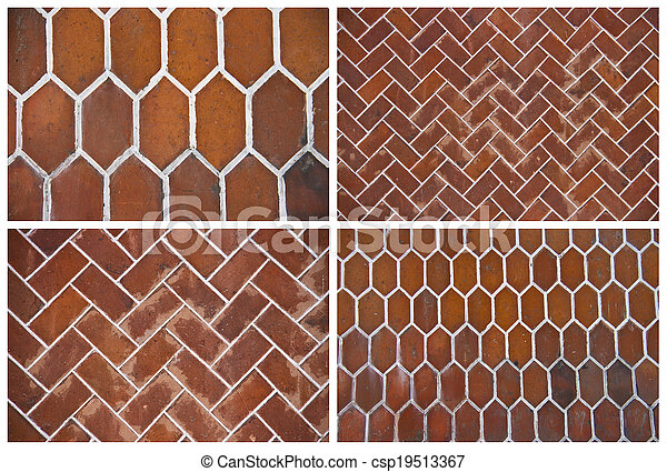set of backgrounds of ceramic tiles - csp19513367