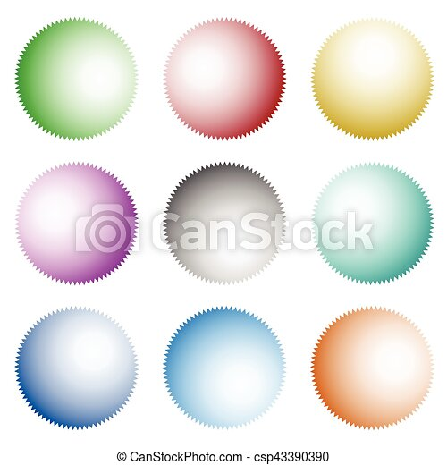 Set of badges, buttons with light coming from different sources - csp43390390