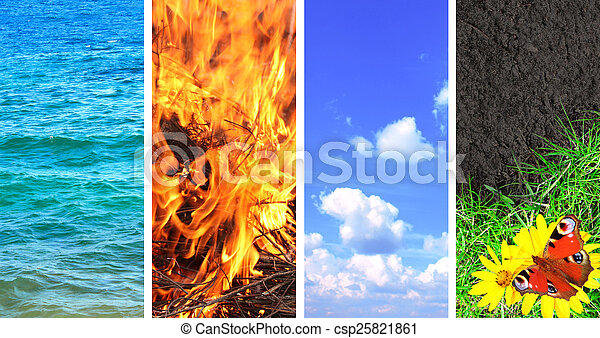 Set of banner with nature elements - csp25821861