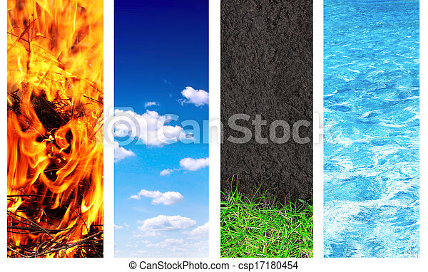 Set of banner with nature elements - csp17180454