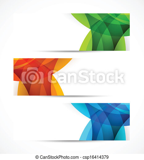 Set of banners - csp16414379