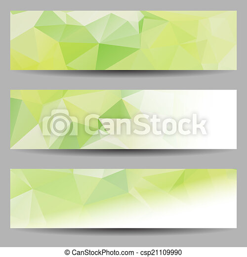 Set of banners with abstract triangles - csp21109990