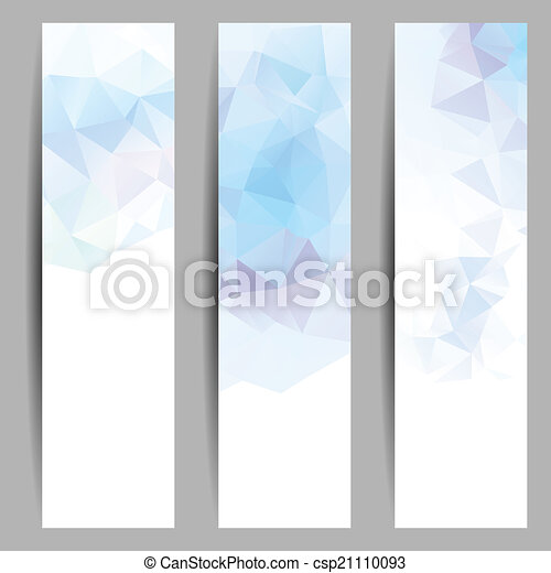 Set of banners with abstract triangles - csp21110093