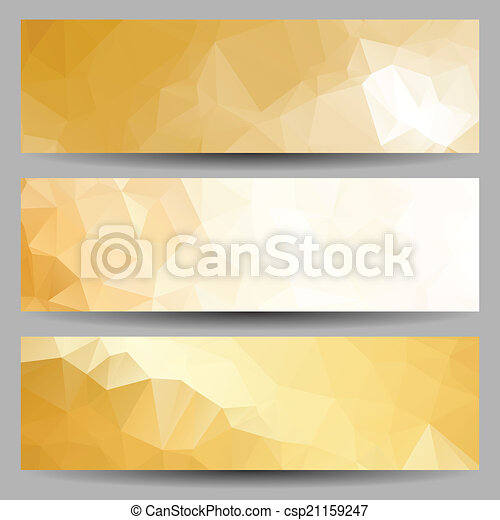 Set of banners with abstract triangles - csp21159247
