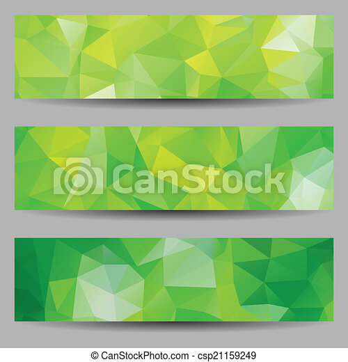 Set of banners with abstract triangles - csp21159249