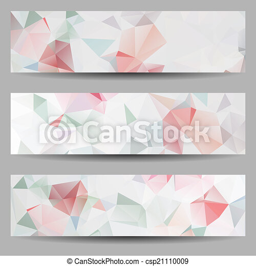 Set of banners with abstract triangles - csp21110009